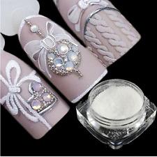 1g Holographic Nail Art Sugar Glitter Powder Dust White Sandy Pigment Nails Tool