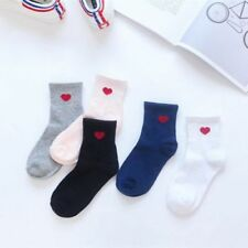 New Fashion Harajuku Women Cotton Long Socks Novelty Love Heart Pattern Socks