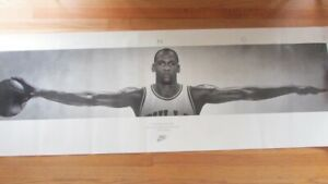 "FULL SIZE NIKE POSTER ""WINGS"" MICHAEL JORDAN 1989 FIRST PRINT 72"" X 24"""