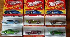 HOT WHEELS CLASSICS collectors cars lot of 6