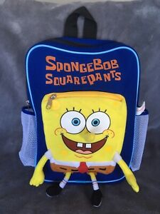 Spongebob Squarepants Back Pack, Nickelodeon, Kids, School, Travel, Soft, VGC