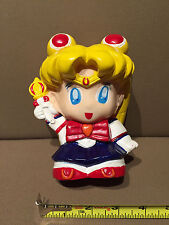 Sailormoon plastic cartoon Toy bank SUPER CUTE and Hard to Find!