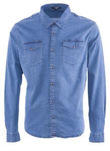 ZAPA Paris Men's Shirt Size XXL Blue Denim RRP: 175 EUR