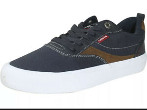 Levi's Lance-Lo-Olympic Sneakers Low Top Navy Blue Shoes Men's Size 11