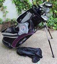 NICE U.S. Kids Golf TOUR SERIES 18 JUNIOR Lefty Wood IRONS 10pc USKG + Bag 51-35