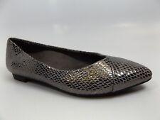 Vionic Women 359CABALLO Shoes Comfort Flats Pumps Gunmetal Snake SZ 5.0 M, 11874
