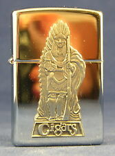Barrett-Smythe Cigar Store Indian Pewter/Chrome Zippo Lighter Mint in Box 1998