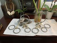Lot Of 2 Vintage Metal Rope Puzzle IQ Brain Teaser Game Magic Trick +Extra Ring