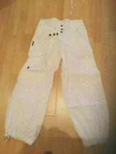 Pantalon femme treillis Blanc
