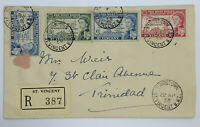 1958 KINGSTOWN ST. VINCENT BWI COVER TO TRINIDAD, WEST INDIES FEDERATION STAMPS