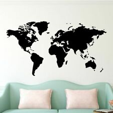 World Map Wall Sticker House Living Room Decoration Decal Stickers Bedroom Decor