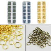 Mixed 4-10mm Stainless Steel Open Jump Rings Findings For Jewelry DIY With Box.