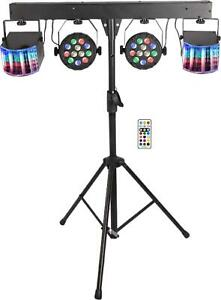Yuusei LED DJ Lighting Set, RGB Party Bar Package Sound Activated Stage System,