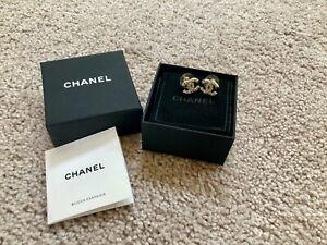 Chanel Pearl CC Earrings Gold