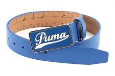 Puma Script Fitted Belt CTL w115 Ceinture en Cuir Cuir Ceinture Strong Blue  Bleu Nouveau 16b159babcf