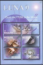 LUNA 9 Russian Spacecraft 1966 Soft Moon Landing 6v Space Stamp Sheet (Bequia)