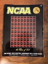 Vintage,1990 NCAA  Men's Basketball Tournament,program,Hoosier Dome,1st 2 Rounds