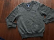 BOYS/KIDS POLO RALPH LAUREN V NECK JUMPER/SWEATER AGE 5  YEARS IN GREY