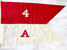 Large Antique Nautical Pennant Ship Flag Sailing Linen 43x27 inches