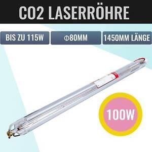 100W max. 115W Laserröhre Laserrohr Tube für CO2 Graviergerät Engraving Machine