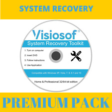 Windows 7 Professional 32 / 64 Bit Reinstall Restore Repair Recovery Boot CD