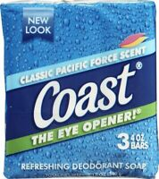 12 PACKS : Coast Bar Soap Classic Pacific Force Scent - 3 CT