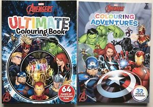 Marvel Avengers 64 Pages Ultimate Colouring Book & 32 Pages Colouring Adventures