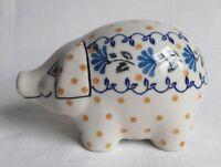 Spardose Geschenk Sparschwein Figur i! Bunzlauer Keramik !i  8 cm hoch (ne0223)