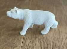 Plastic Mini Polar Bear Walking Model Toy Figurine Replica