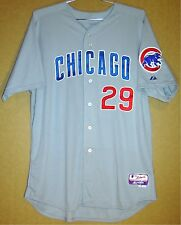 e1f473d2692 CHICAGO CUBS GRAY JEFF SAMARDZIJA  29 MLB ROAD Majestic Size 52 JERSEY
