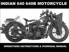 New listing Indian 640B Workshop Service & Parts Manualss + Ww2 640 B Ad Art & Repair info
