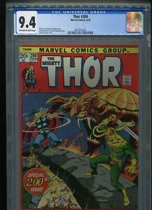 Thor #200 (1972) CGC 9.4 [OFF-WHITE/WHITE] Stan LEE Gerry CONWAY John BUSCEMA