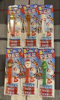 Complete Set Of 6 2020 Christmas PEZ Dispenders Santa Snowman Tree Elf Raindeer