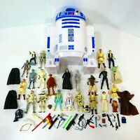 "Vintage Kenner Star Wars 3.75"" Action Figure Lot R2D2 Case 80s 90s Collection"
