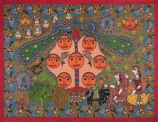 Madhubani Folk Art Wall Painting Decorative size 30x22 in.