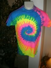 NEW RAINBOW Tye-Dye Tie-Die T-Shirt 100% Cotton Tye-Dye SZ: S