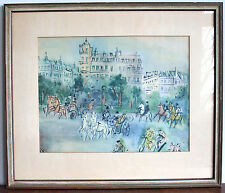 Jean Dufy Graphikdruck - The Phaeton - Springtime in Paris