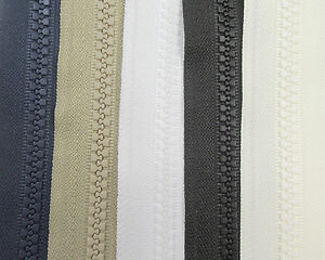 1 METRE CONTINUOUS ZIP + 1  SLIDER No.5 CHUNKY *5 COLOURS* ZIPPERS REPLACEMENT