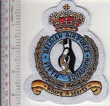 Belgium Royal Belgian Air Force RBAF 5th Squadron 1st Wing Belgique white felt