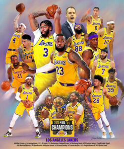 Champions of the Basketball game LeBron James and lakers poster for walls Canvas print wall art Poster 8 * 12inch,No Framed
