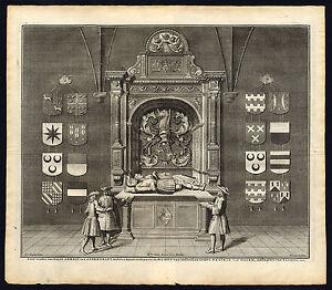 Antique Print-DEN HAAG-HAGUE-TOMB-ASEENDELFT-BEATRIX-NETHERLANDS-Riemer-1730