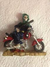 Skeleton on Motorcycle Figurine