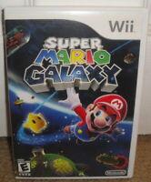 Wii SUPER MARIO GALAXY - CiB 2007 Nintendo Video Game Complete Original 1 first