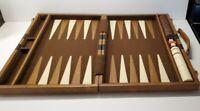 Vintage Backgammon Game Set Original Case mid century modern retro