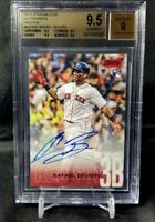 2018 Topps Stadium Club Rafael Devers Red Parallel Rookie Auto /50 BGS 9.5/9