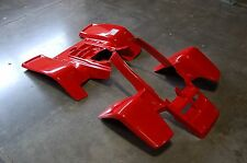 YAMAHA BANSHEE YFZ 350 RED PLASTIC STANDARD FRONT AND REAR FENDER SET