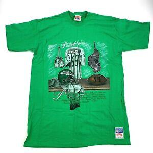 Vintage 1991 NUTMEG Philadelphia EAGLES Shirt Single Stitch Randall Cunningham