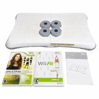 Nintendo Wii Balance Board Bundle With 2 games Wii Fit Jillian Michaels 2009