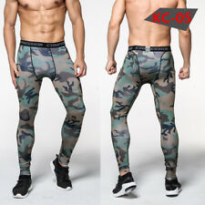 Mens Athletic Compression Tights Long Thermal Athletic Base Layers Gym Dri fit