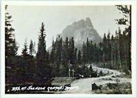 1920 Johnson's Canyon Falls Banff Canada RPPC Real Photo Vtg